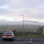 Low cloud over the Kirkwall area