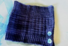Hand knitted cowl in Malabrigo Worsted