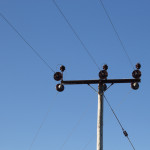 Ceramic insulators on the overhead power lines