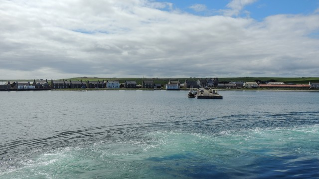Approaching Whitehall, on Stronsay