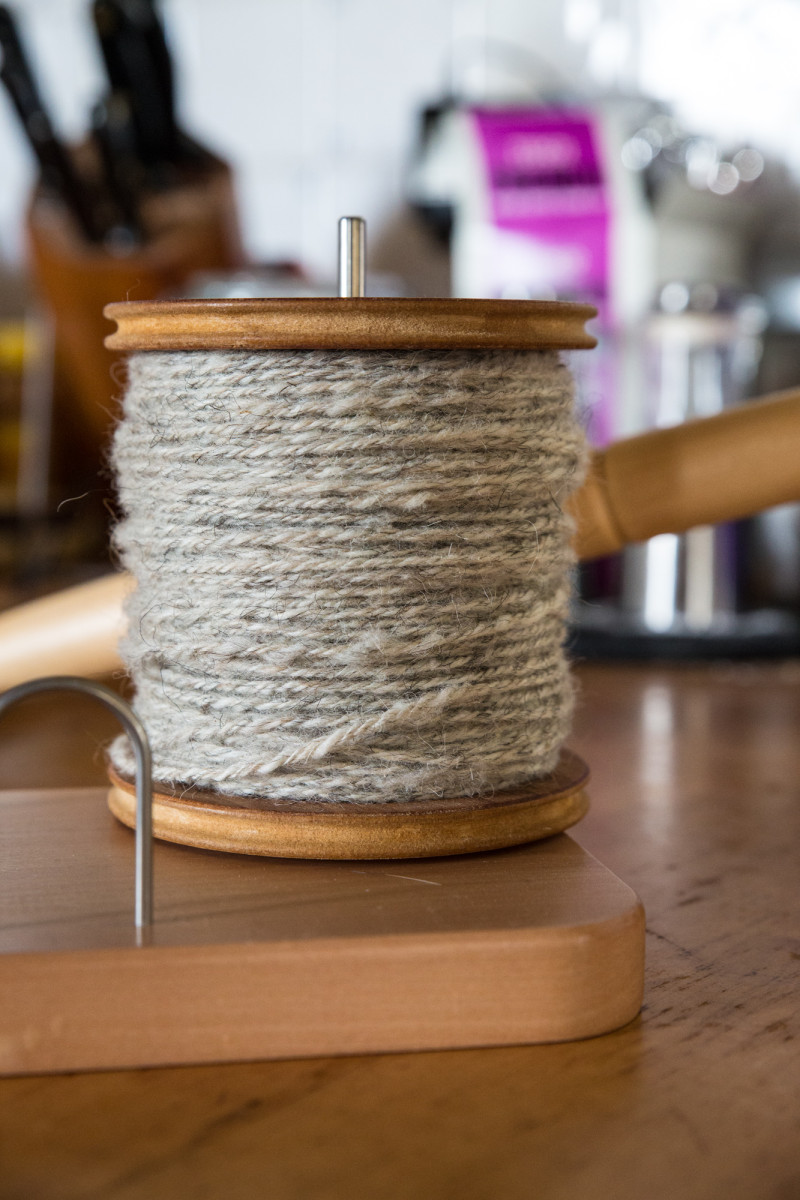 Yesterday's plying - a full jumbo-sized bobbin